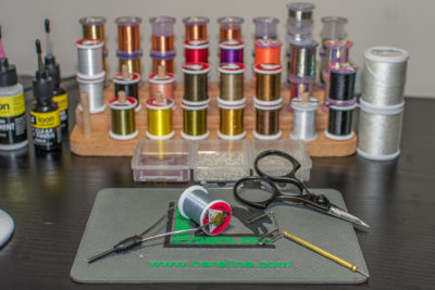 Fly tying threads.