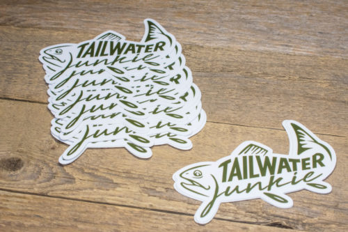Tailwater Junkie Sticker
